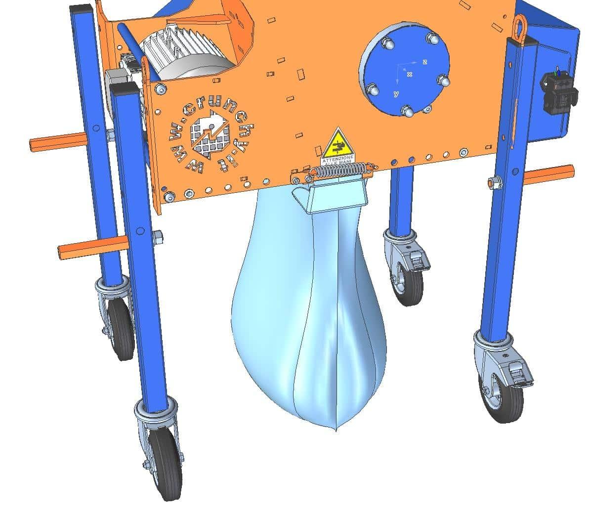 Applicazione del sacchetto